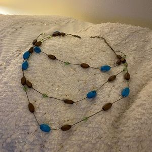 Blue/brown necklace